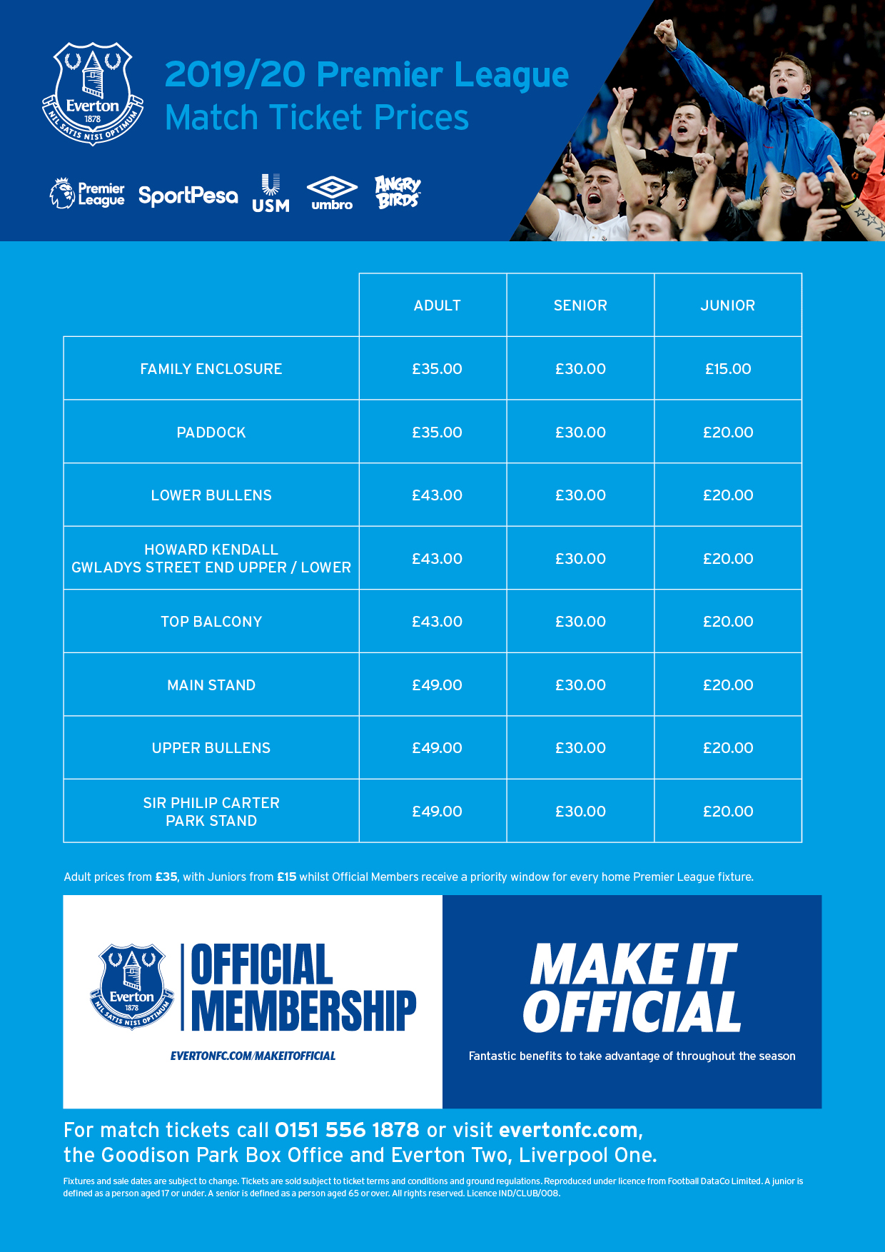 Tickets | Everton Football Club