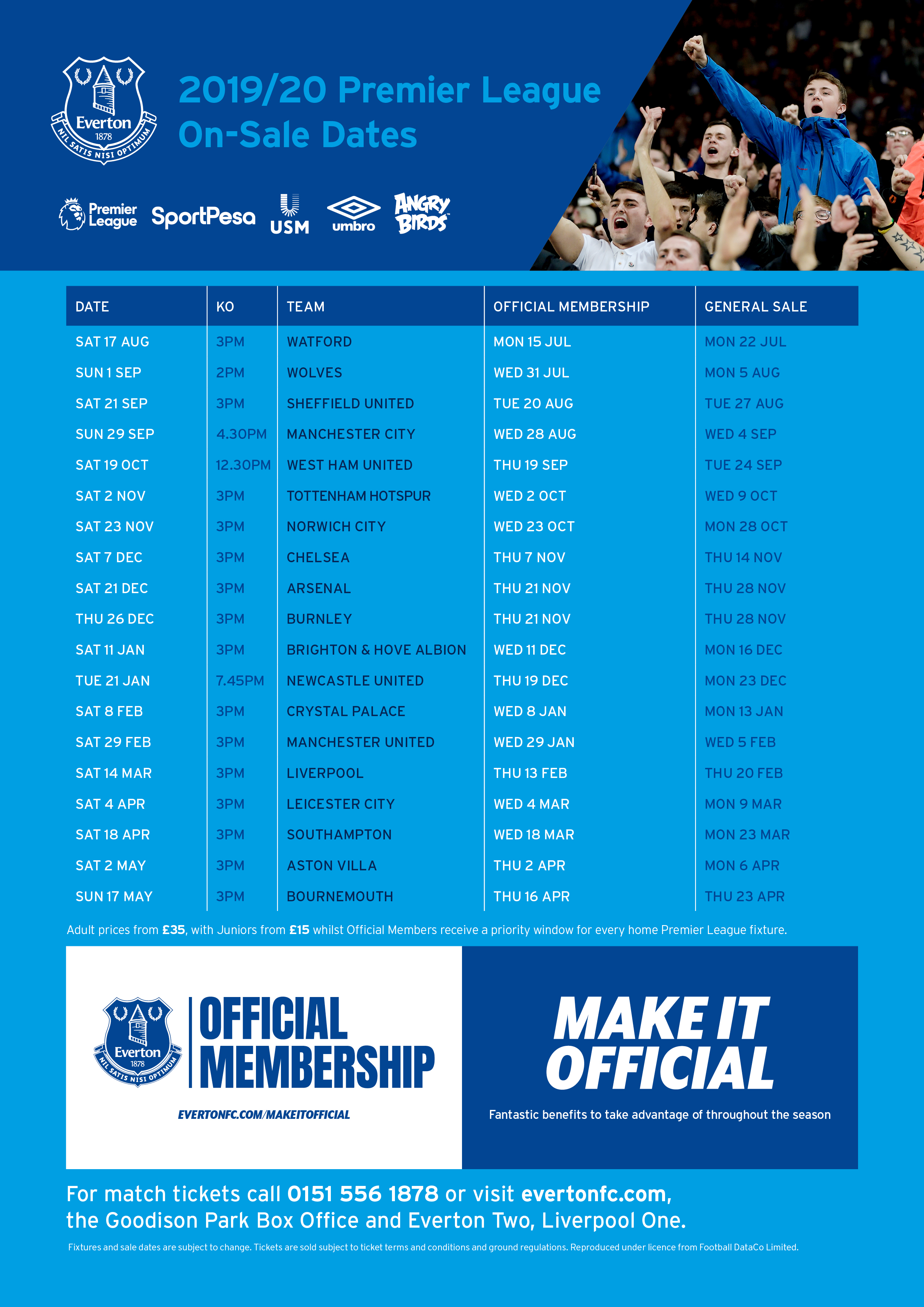 Tickets | Everton Football Club